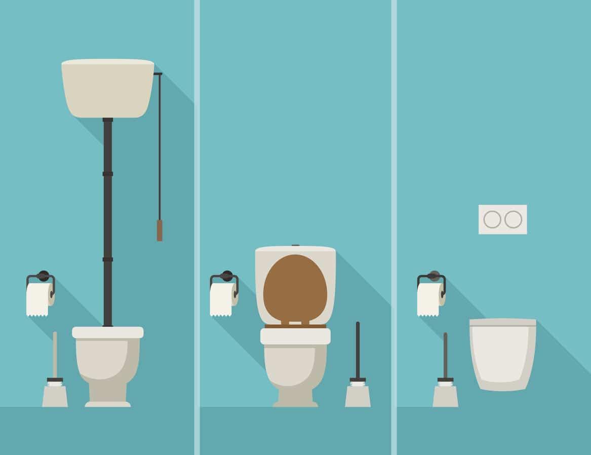 toilettes WC astuces salle de bain réduire consommation eau