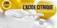 acide citrique fiche produit utilisation bienfaits