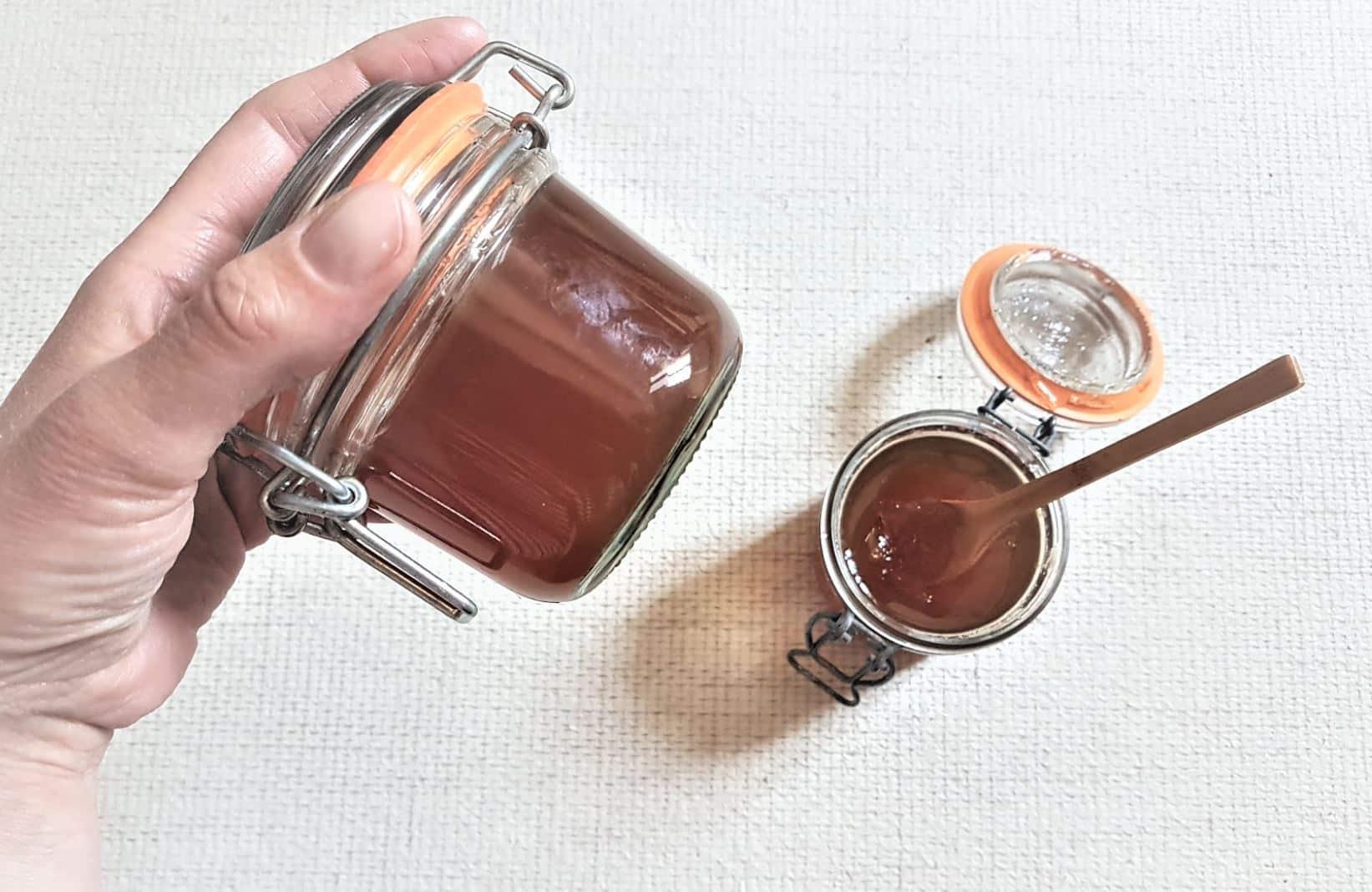 gelée de thé maison bocal