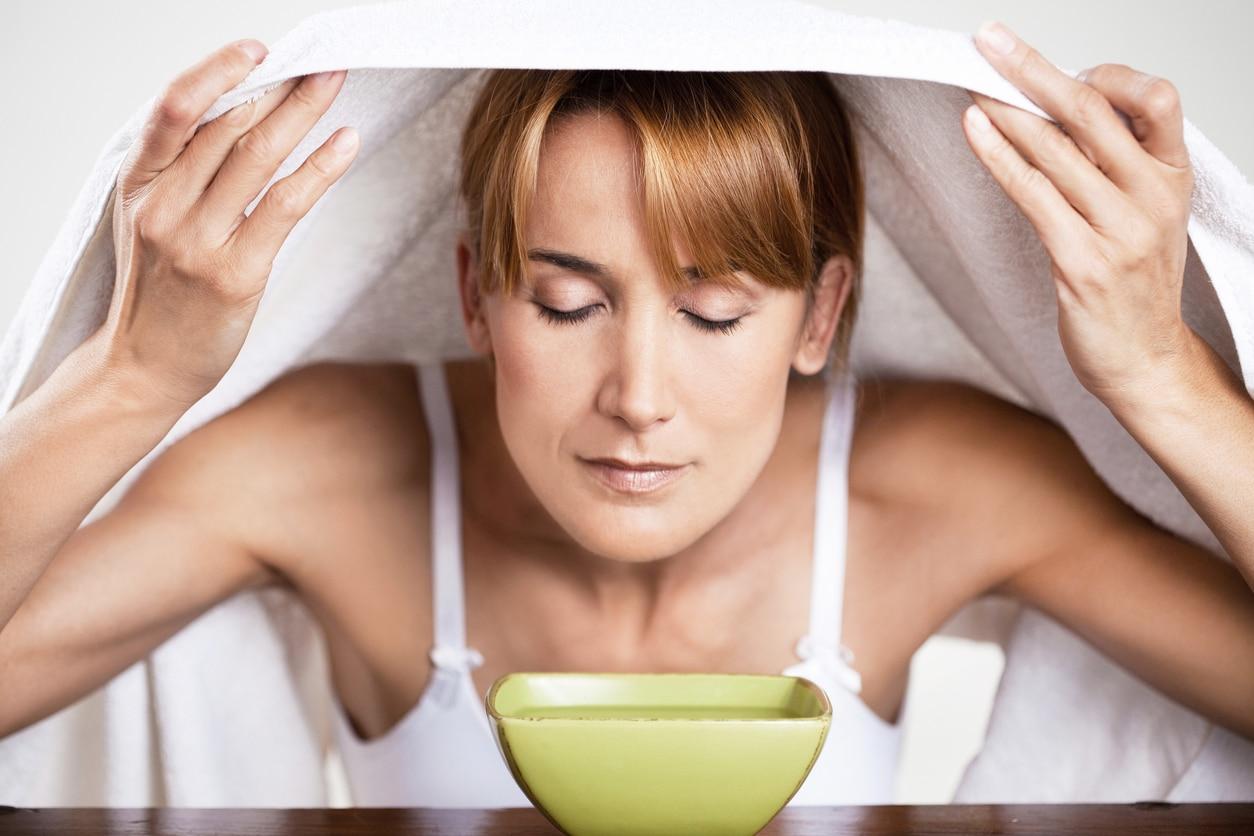 inhalation remède naturel contre rhume déboucher nez