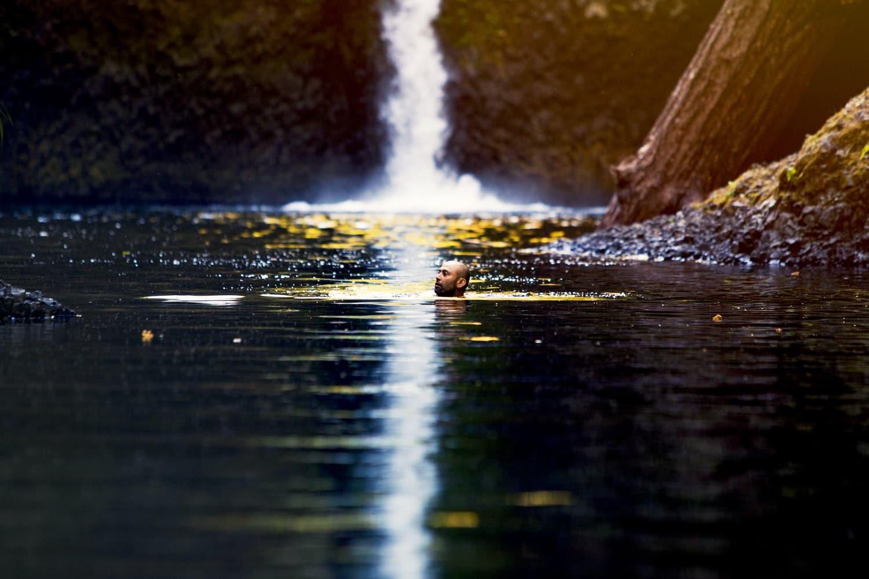 nager nage mer lac