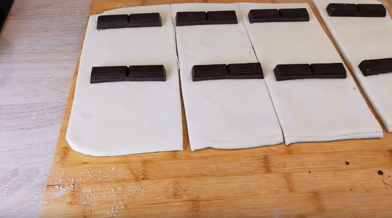 pains au chocolat recette maison découpe