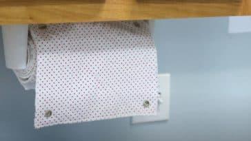 papier toilette réutilisable lavable tuto diy