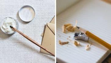 crayon rechargeable colle fournitures écologiques