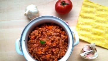 sauce bolognaise maison plat pâtes vegan