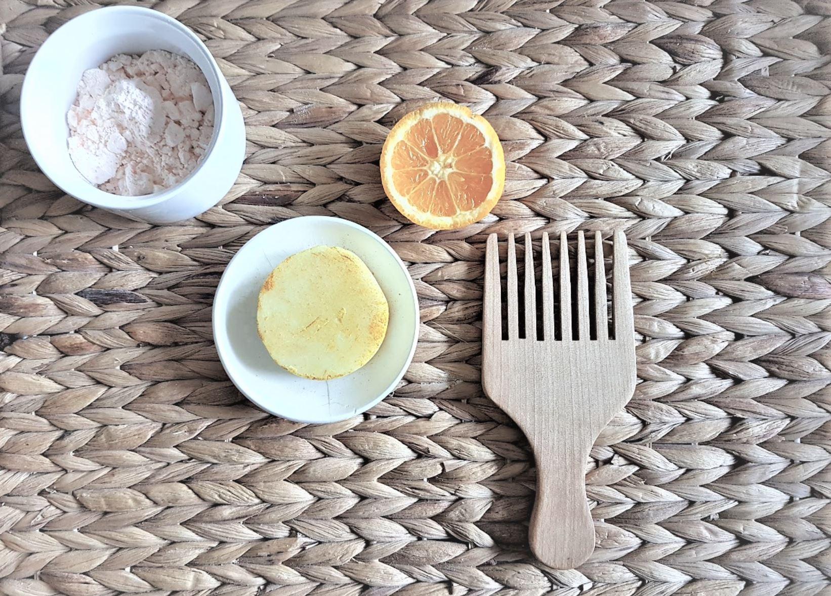 shampoing solide cheveux secs peigne orange recette diy