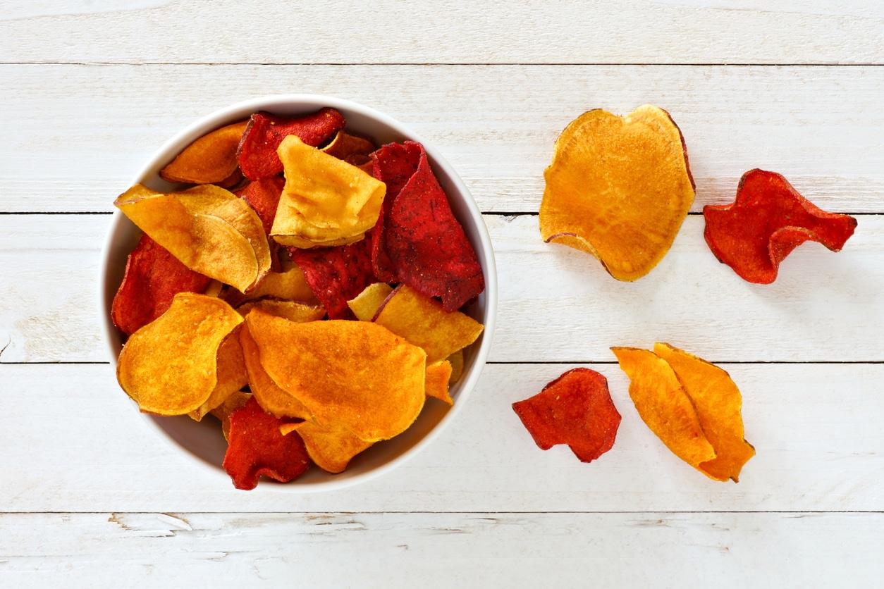 cuisine maison chips de légumes pommes de terre navets apéritif recette