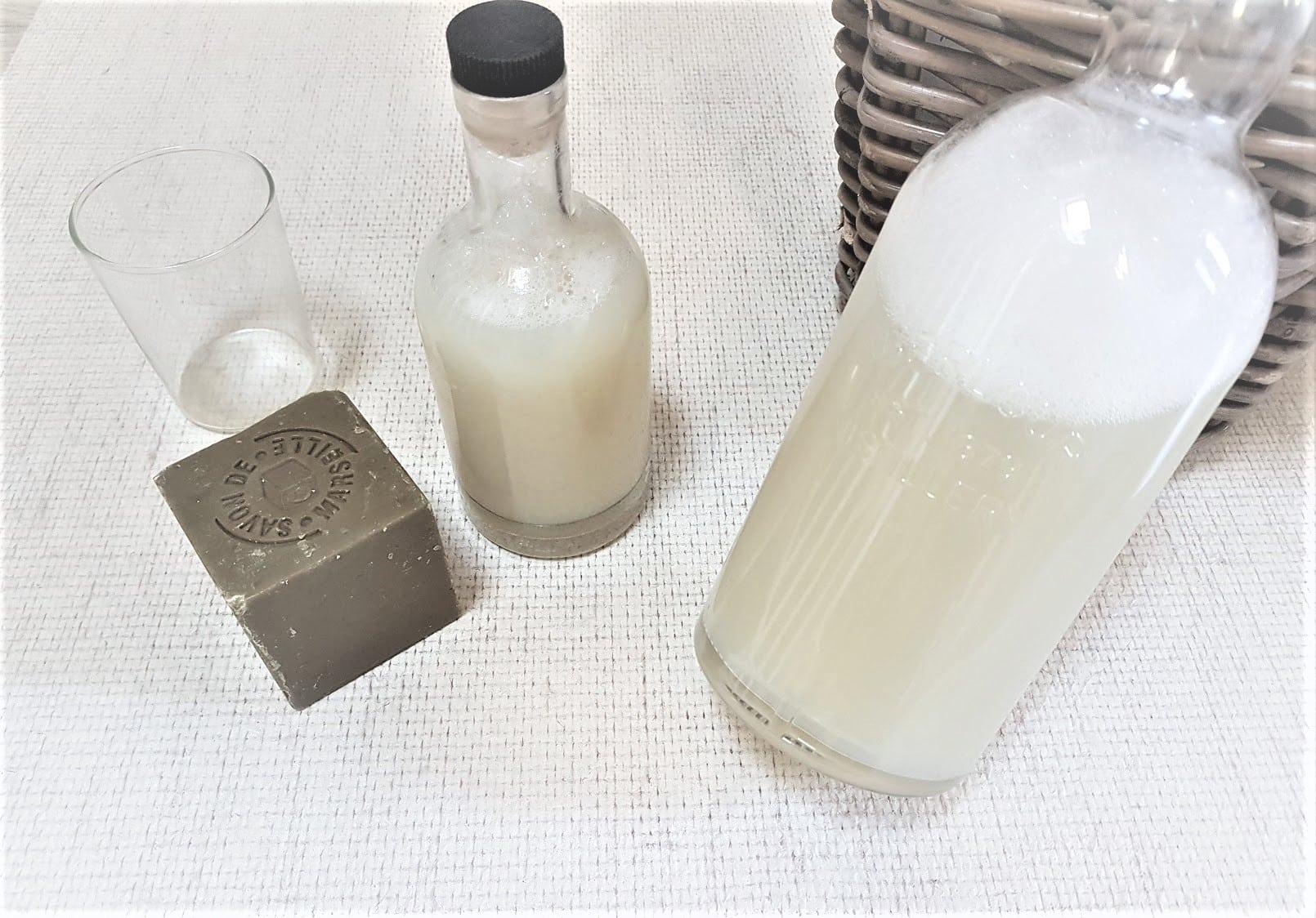 bidons recette de lessive au savon naturelle liquide