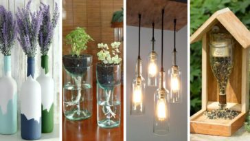 recycler réutiliser bouteilles de vin verre idées DIY