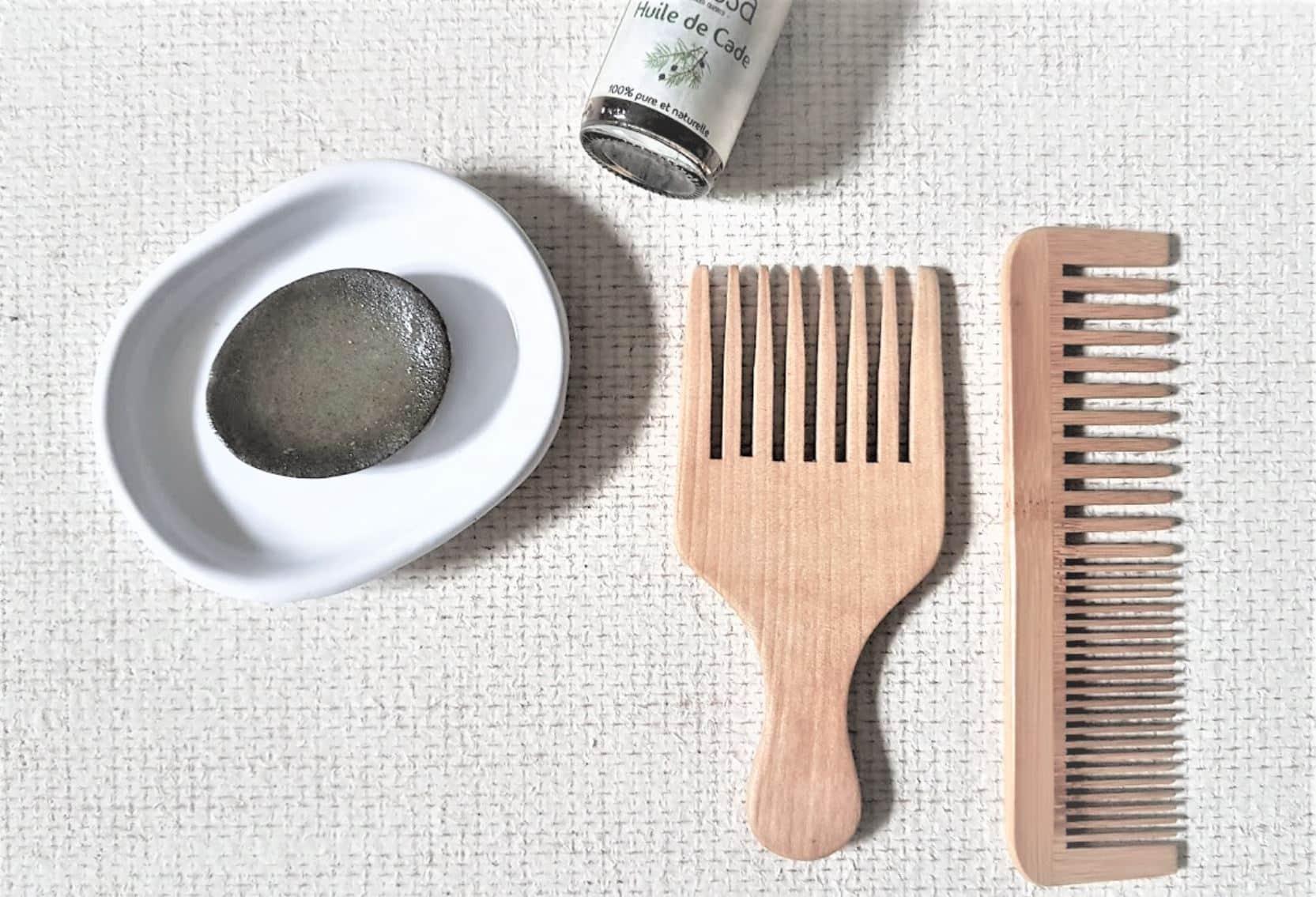 shampoing solide cade salle de bain zéro déchet recette