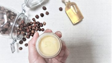 crème visage huile recette noisettes
