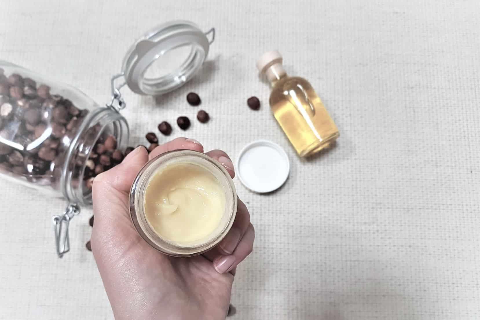 crème visage huile recette noisettes France