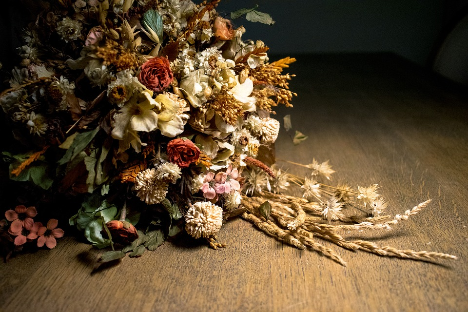 fleurs séchées blé épis à sécher