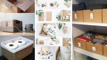 idées recycler réutilisation boites carton colis