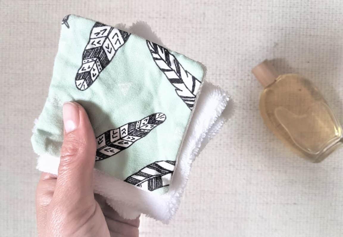 lingettes démaquillantes coton lavable