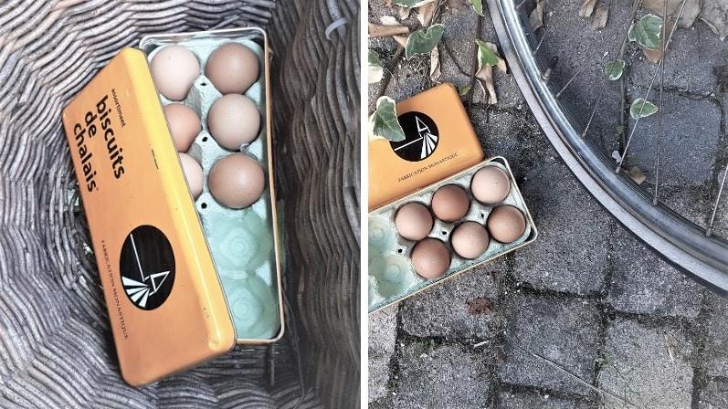 astuces vélo fabriquer sa boîte à oeufs DIY réutiliser