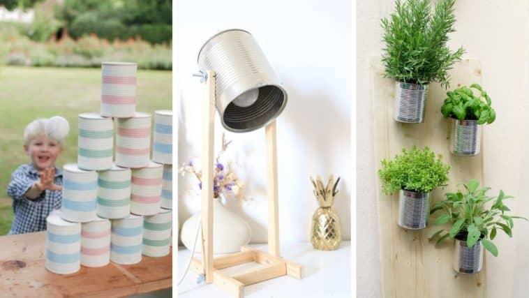 idées déco boîtes de conserve réutilisation recycler