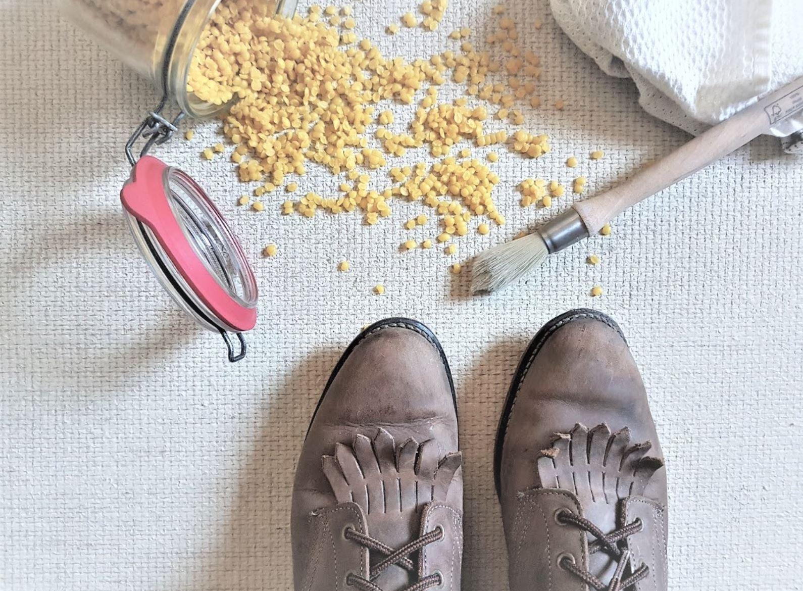 cire impermeabiliser chaussures abeille