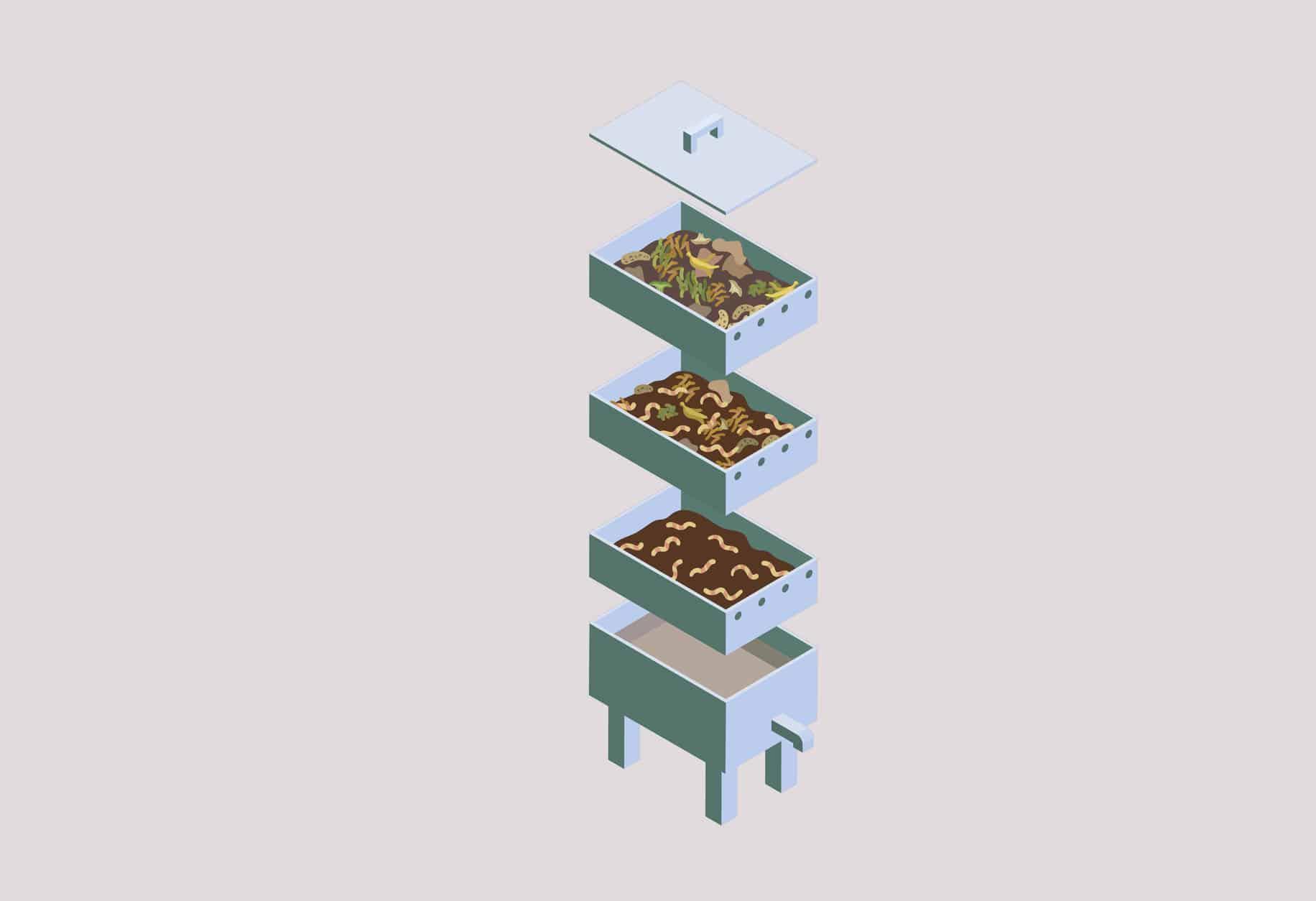bac à compost astuces compostage lombricomposteur