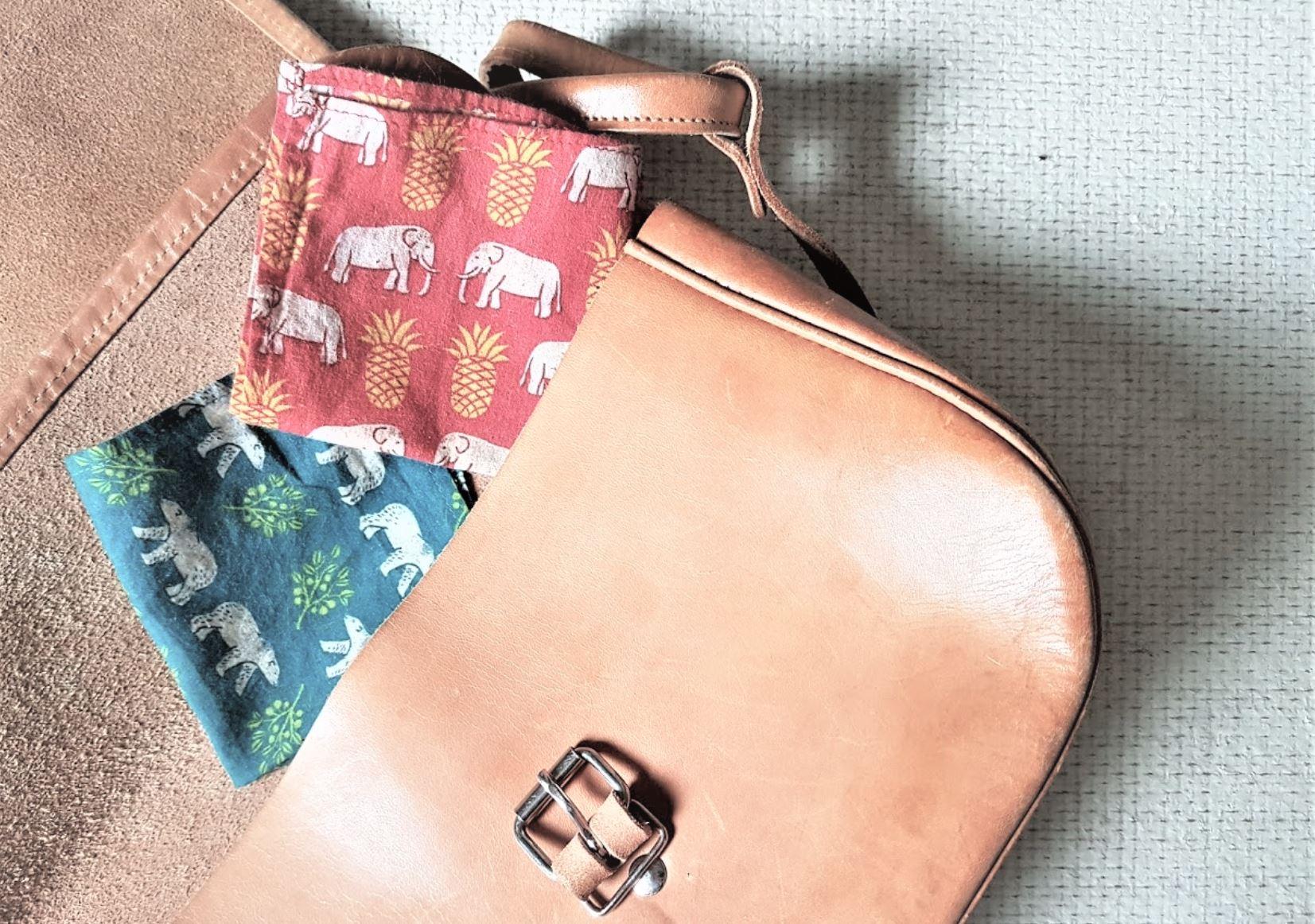 mouchoir en tissu sac lavable réutilisable