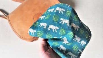 mouchoirs en tissu lavable zéro déchet diy couture