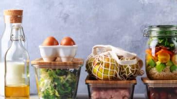 courses sans emballage aliments bocaux tupperwares nourriture frigo
