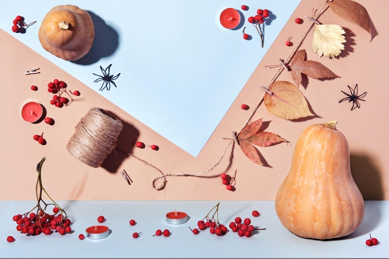 automne décoration Halloween zéro déchet