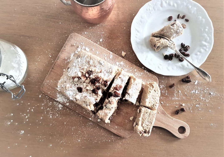 automne gâteau de courge cru dessert