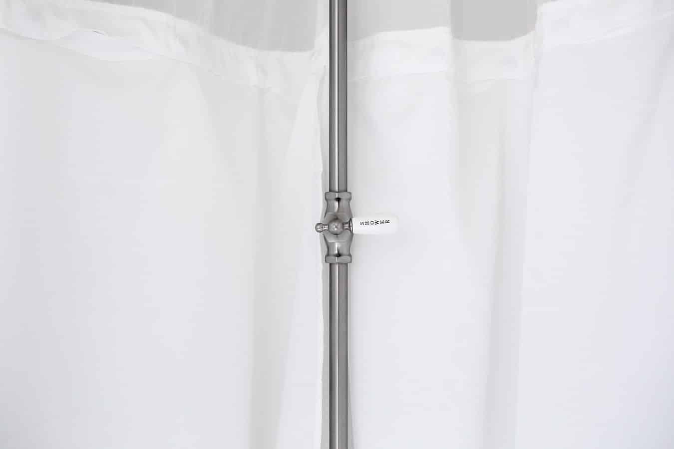 nettoyer vitres douche salle de bain rideaux