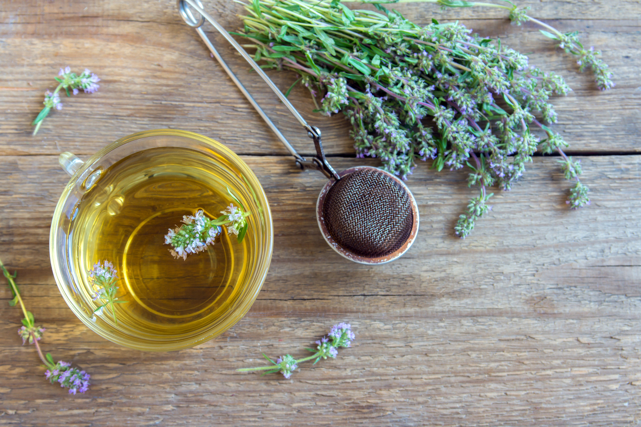 infusion thym plantes boule à thé