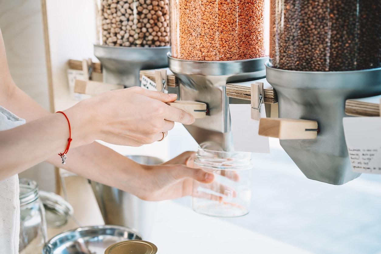 lentilles corail boutique zéro déchet épicerie vrac bio silos remplir bocal
