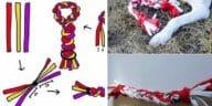 fabriquer jouet pour chien vieux tee shirts DIY