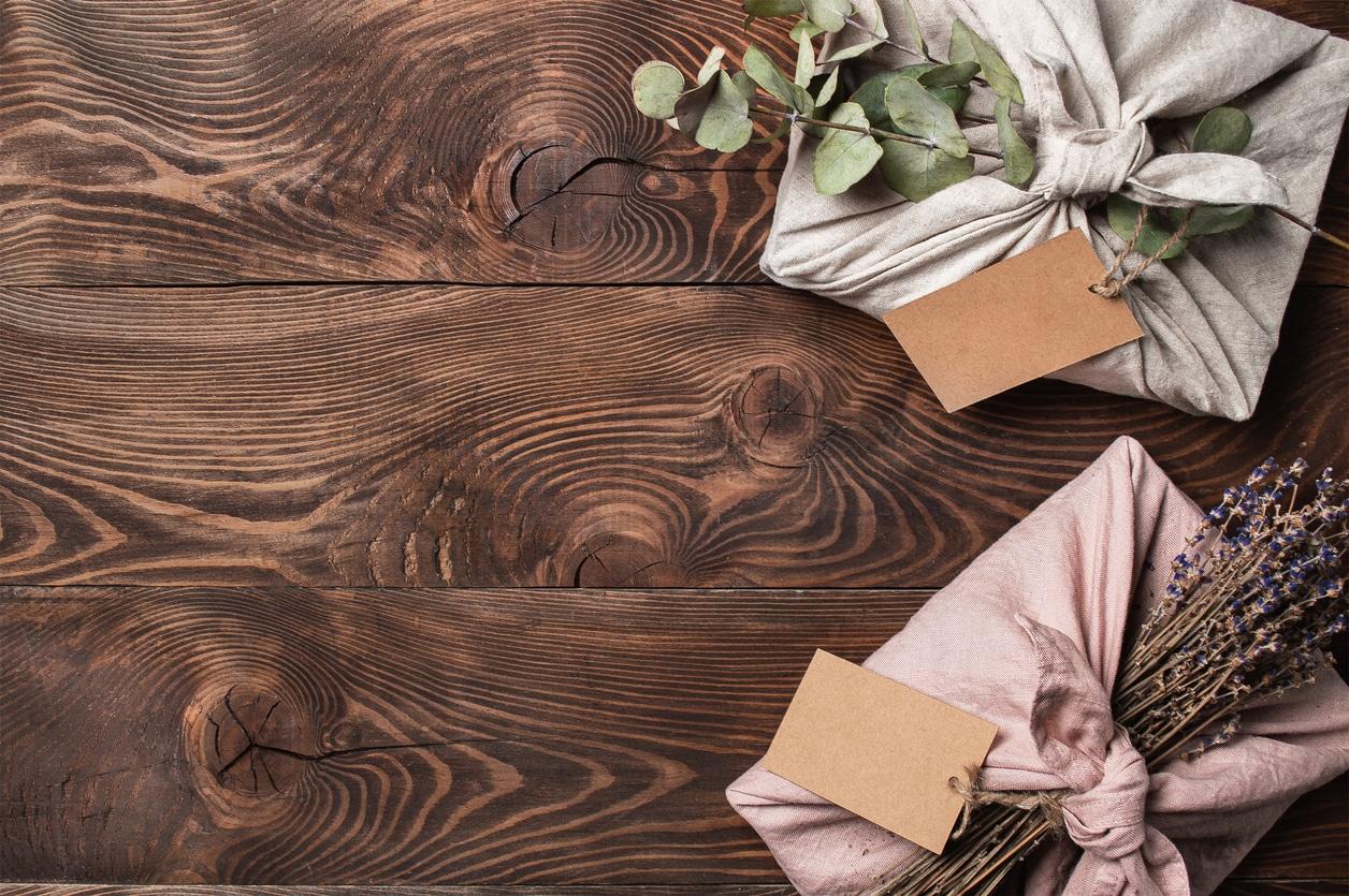 furoshiki papier cadeau écologique réutilisable zéro déchet Noel