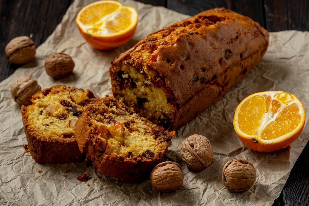 cake aux fruits secs quartier oranges noix gâteau cuisine