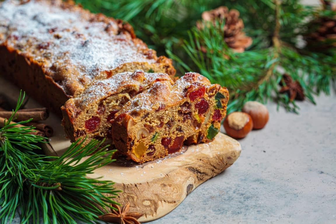 gâteau cake aux fruits secs confits Noël fête