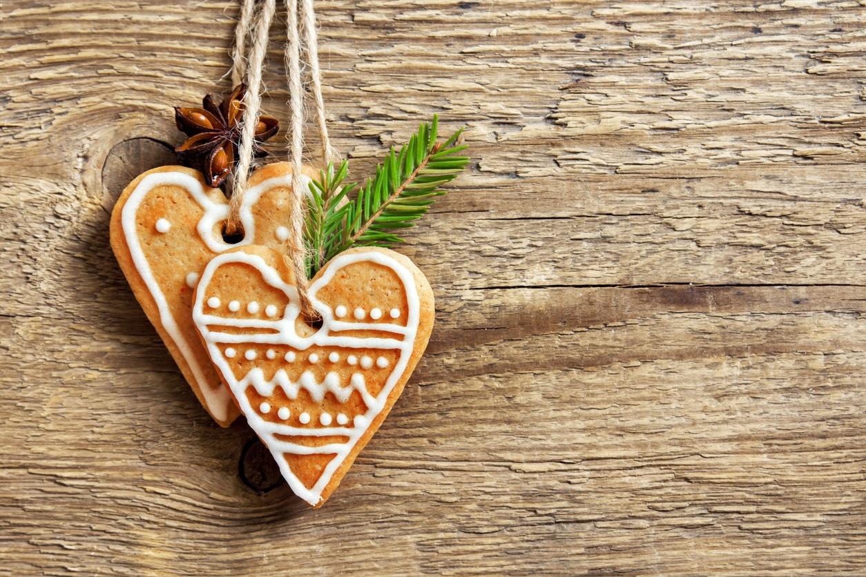 coeurs biscuits de Noel sapin recette
