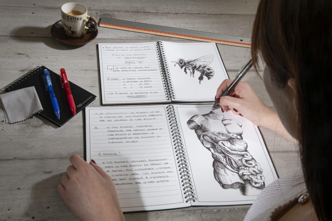 dessiner cahier réutilisable zéro déchet