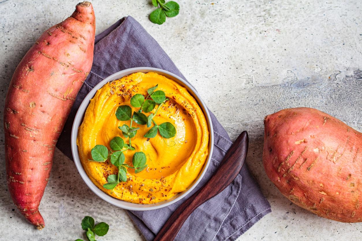 humous de patates douces légumes de saison gestes consommation durable