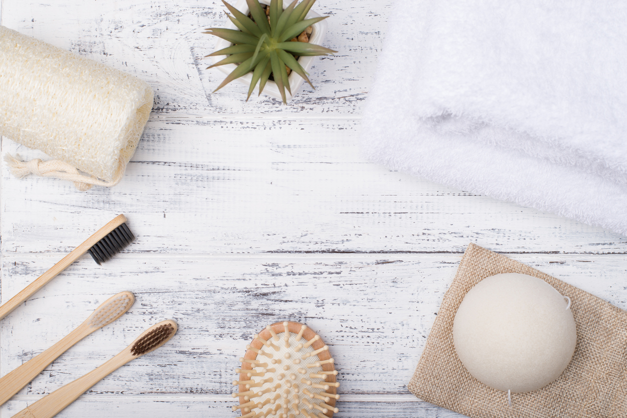 éponge konjac naturelle soin du visage zéro déchet