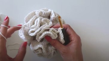 fleur de douche naturelle au crochet DIY