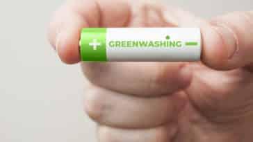 greenwashing tenir pile verte fausse