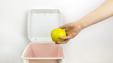 jeter pomme poubelle gaspillage alimentaire