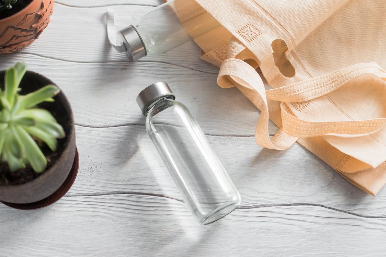 boire gourde verre bouteille écologique zéro déchet eau