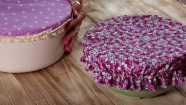 diy couvre plats couture fraises