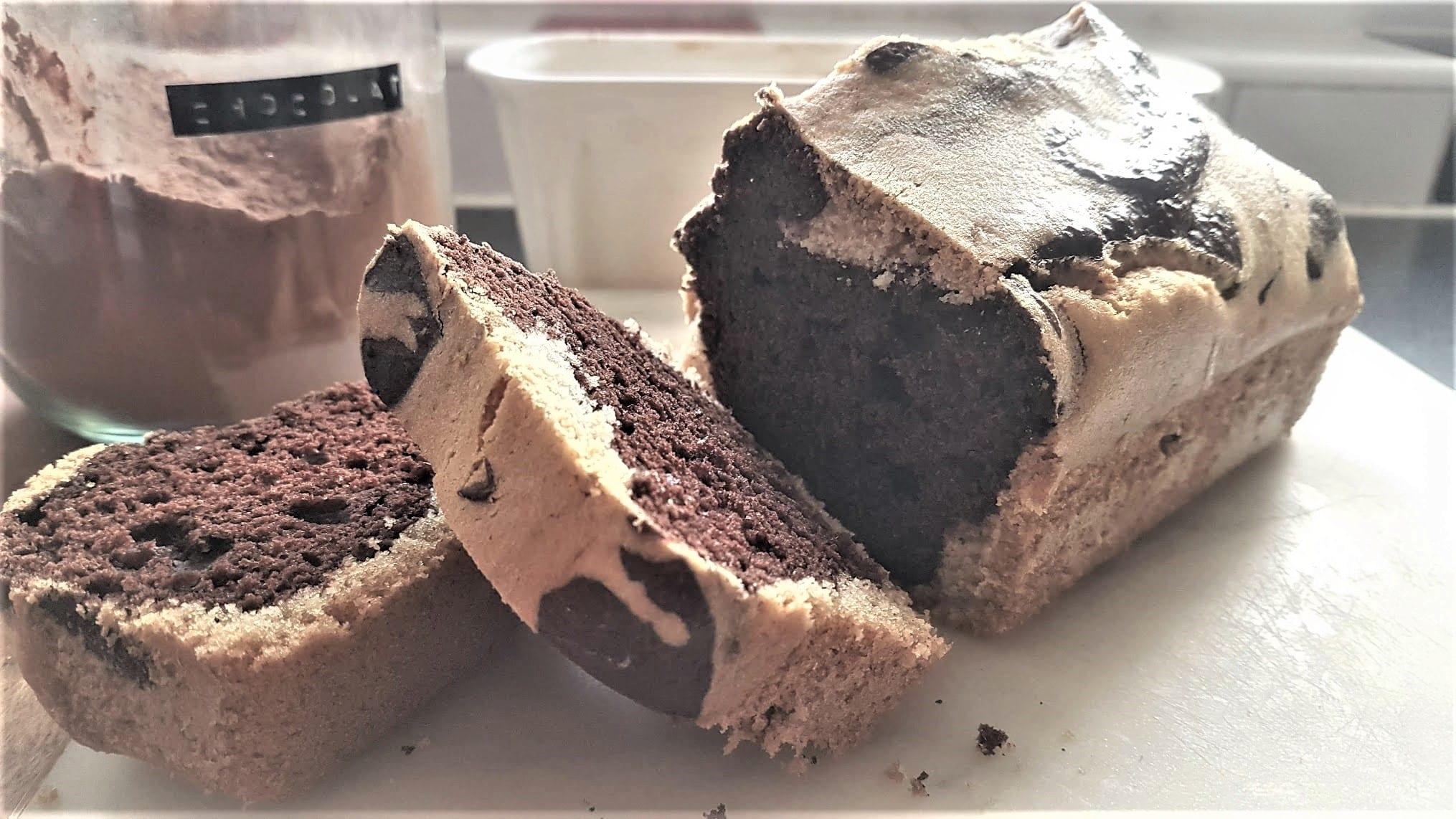 gâteau marbre chocolat cake recette zéro déchet