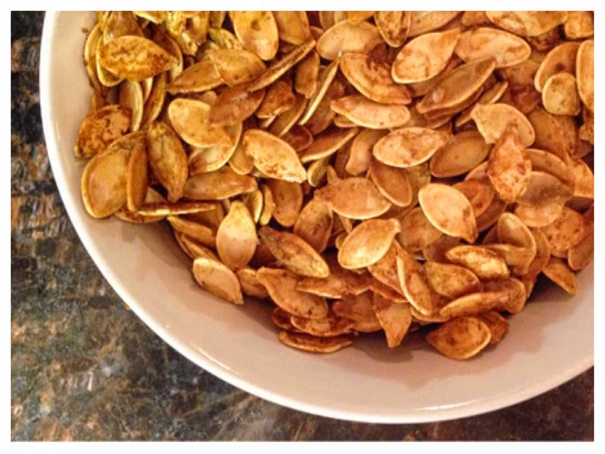 recette apéritif zéro déchet apéro graines de courge grillées