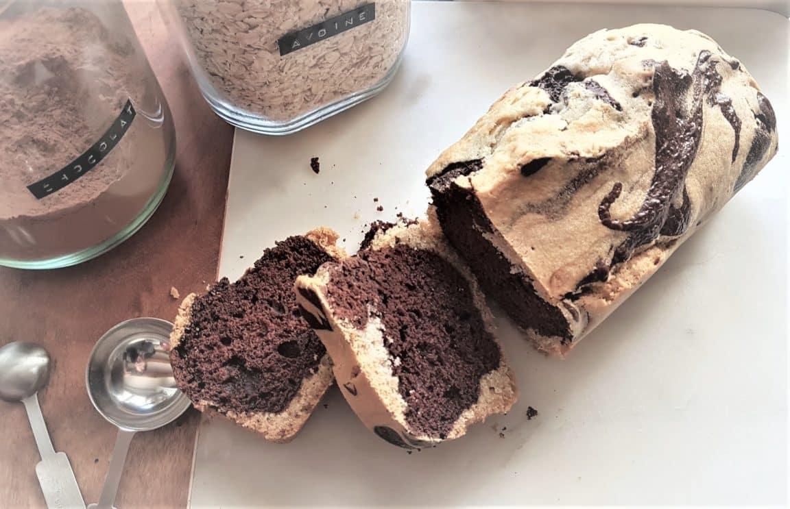 recette cake marbré artisanal gouter enfants