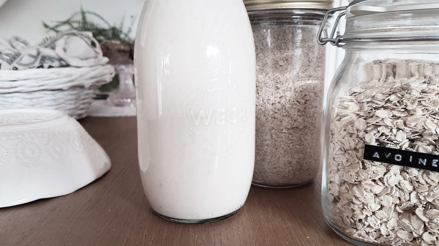recette lait avoine végétale boisson vegan facile