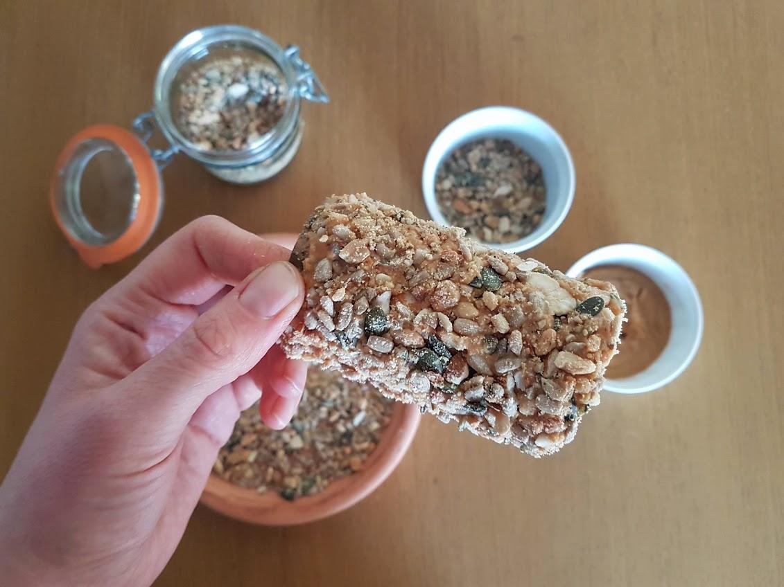 rouleau de graines nourriture oiseaux recette