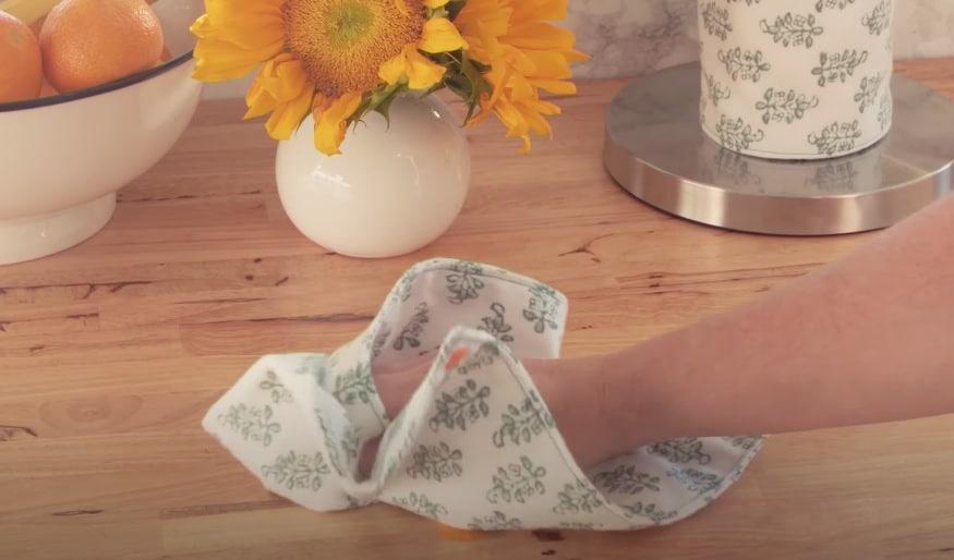 tuto sopalin essuie tout zéro déchet tissu réutilisable couture